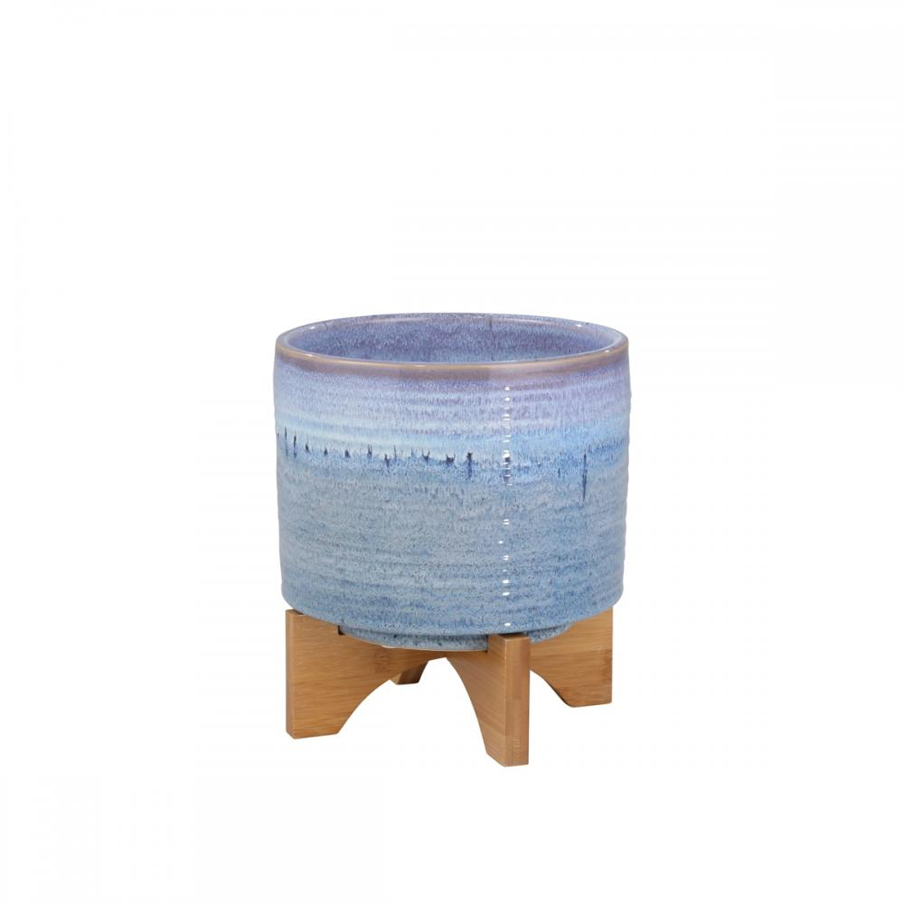 Ceramic Planter on Stand 9in