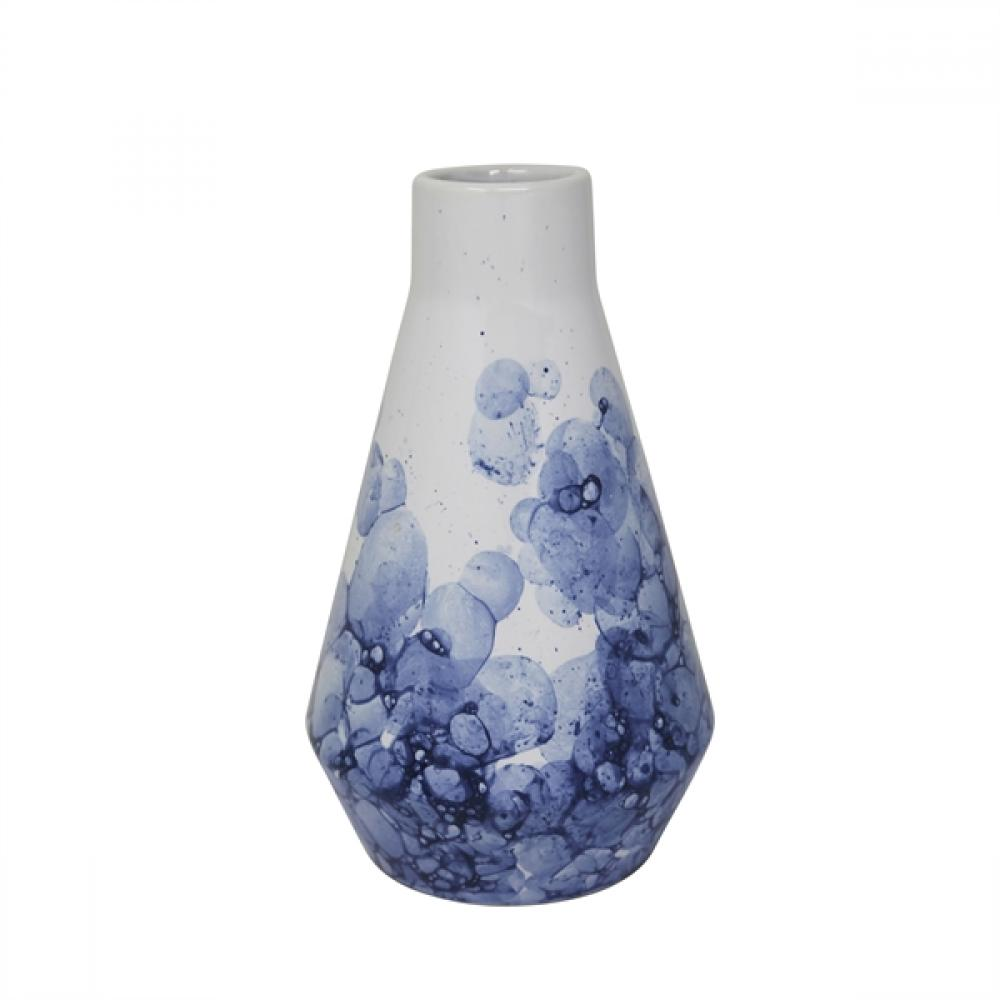 Vase White Ceramic Beaker 9in