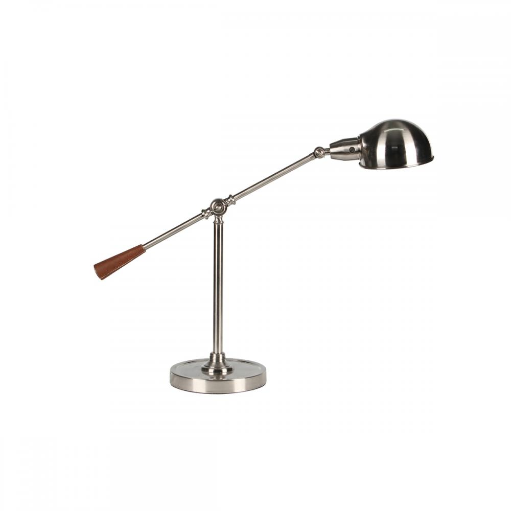 Desk Lamp Metal Silver 22in