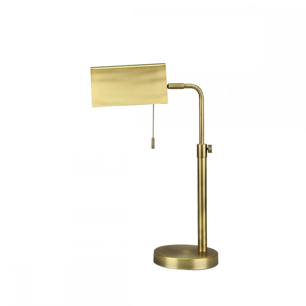 Desk Lamp Metal Rectangle Gold 21in