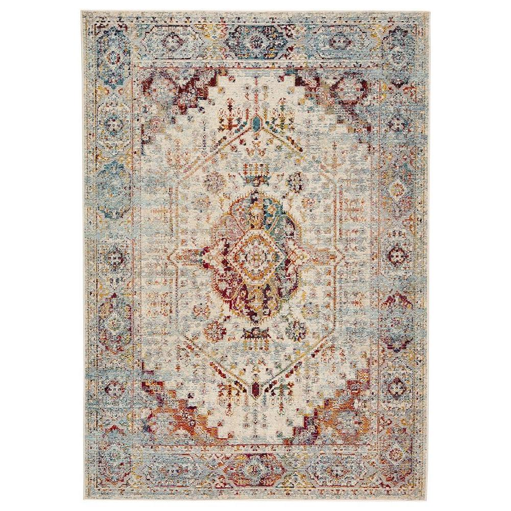 Indie Elowen White Swan 4ft x 5ft 8in Indoor / Outdoor Rug
