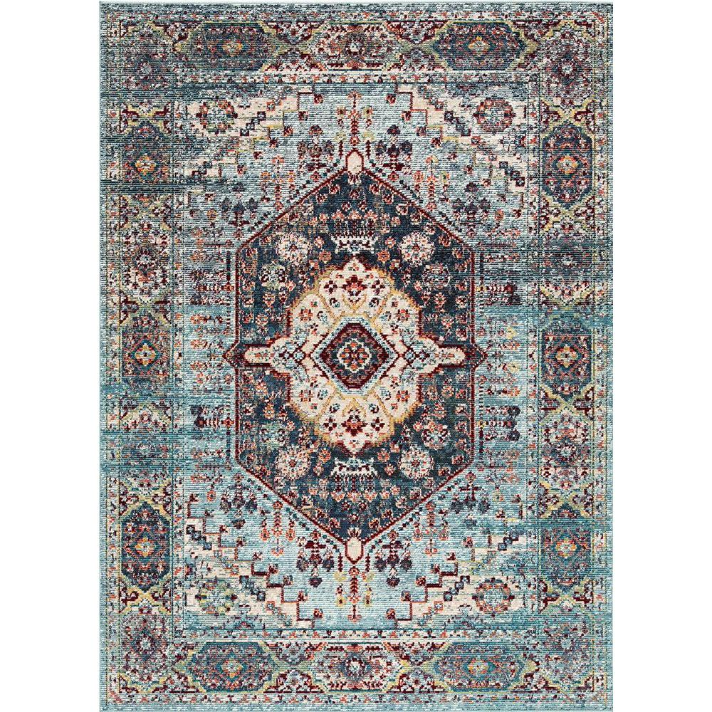 Indie Elowen Colonial Blue 5ft3 x 7ft6 Indoor / Outdoor Rug