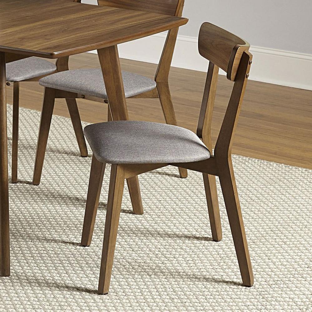 Arcade Dining Chair Walnut Finish 18in x 22in x 31in High