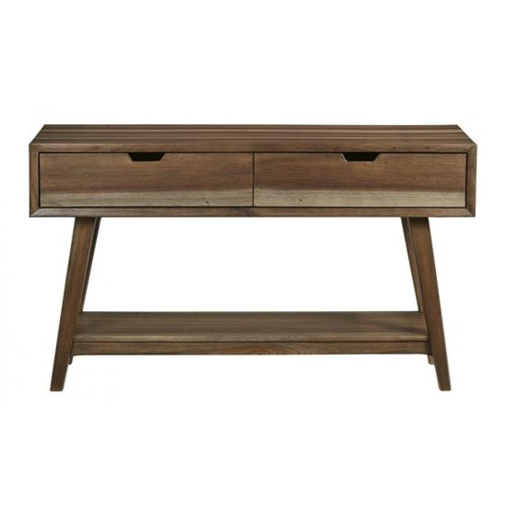 Bungalow Sofa Console Table Caramel Finish 48in x 16in x 28in High