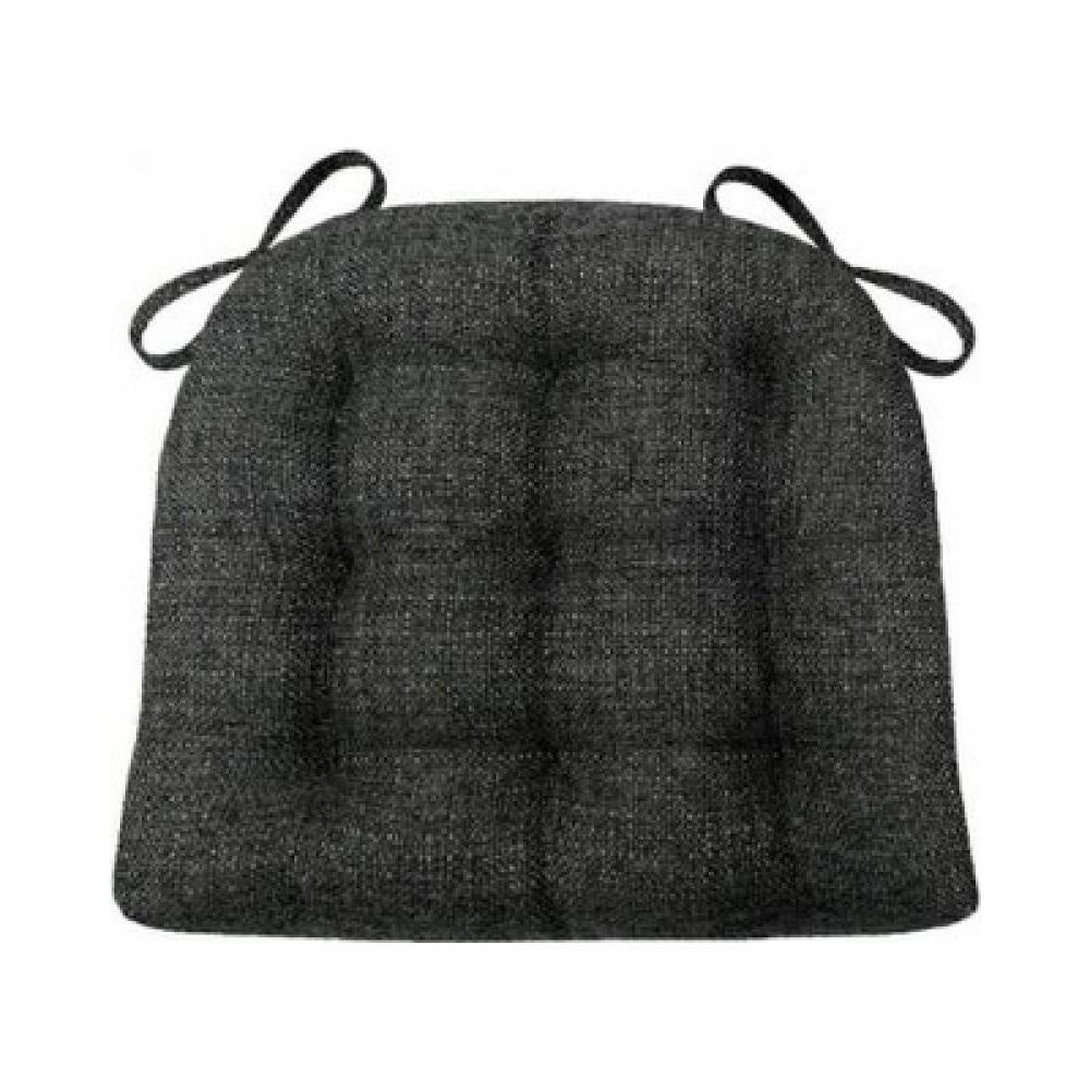 Chair Pad 15d x 17w Brisbane Charcoal Black