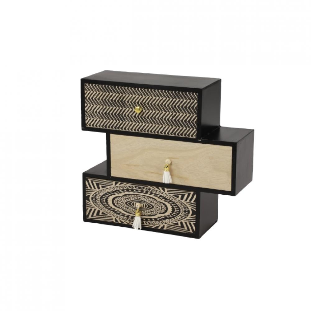 Box Wooden Black and Gold 12w x 10h