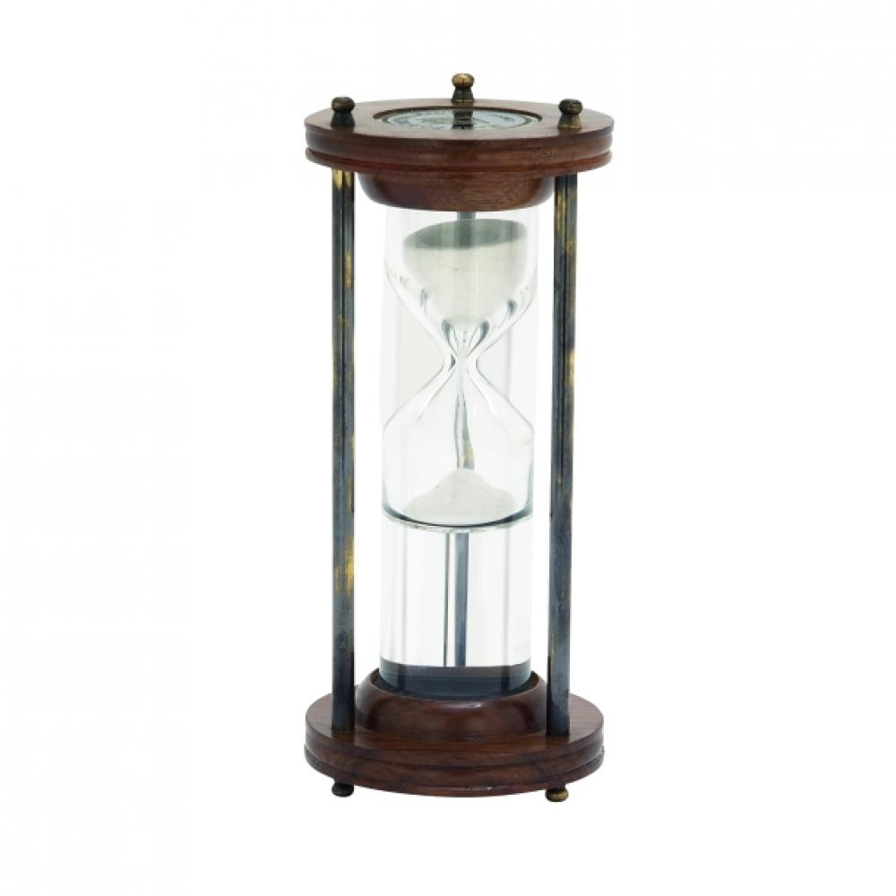 Sand Timer Wooden, Metal and Water 3w x 8h