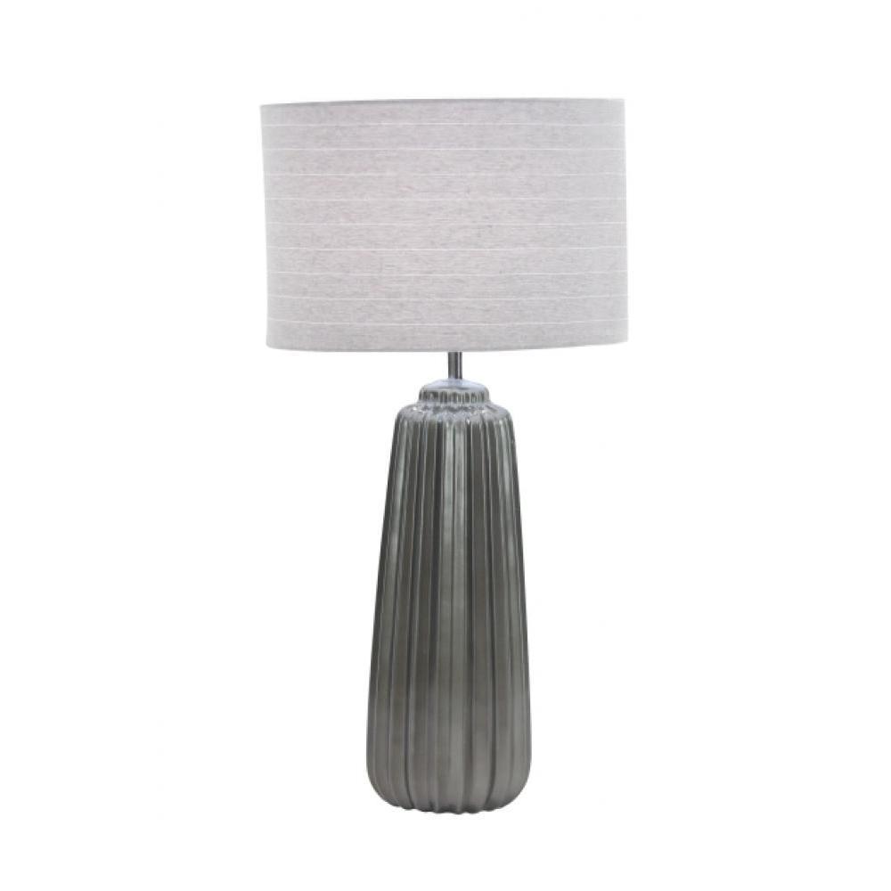Lamp Ceramic Grey 25.5in High