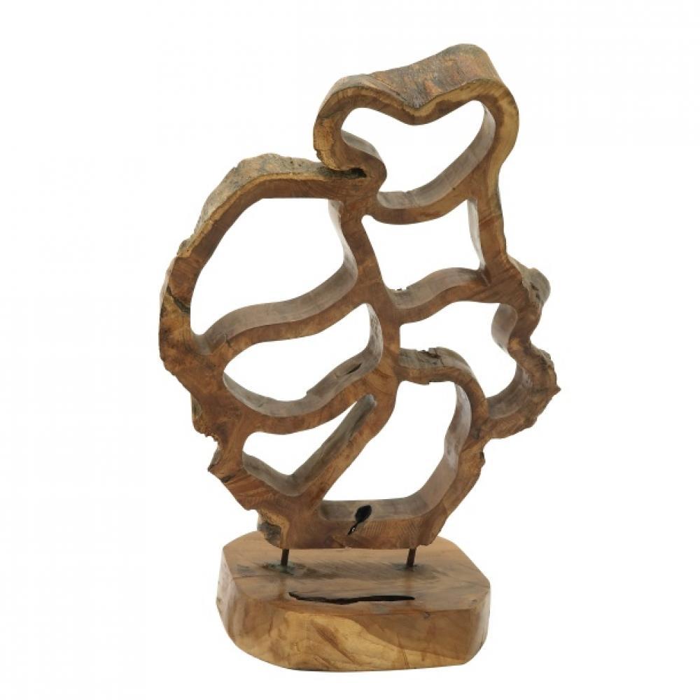 Sculpture Teak Wood 16w x 25h