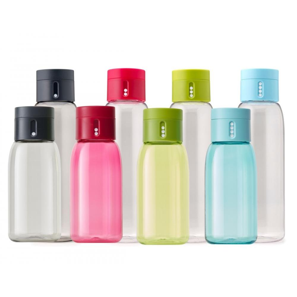 Dot 600ml Hydration Water Bottle With Counting Lid - Green