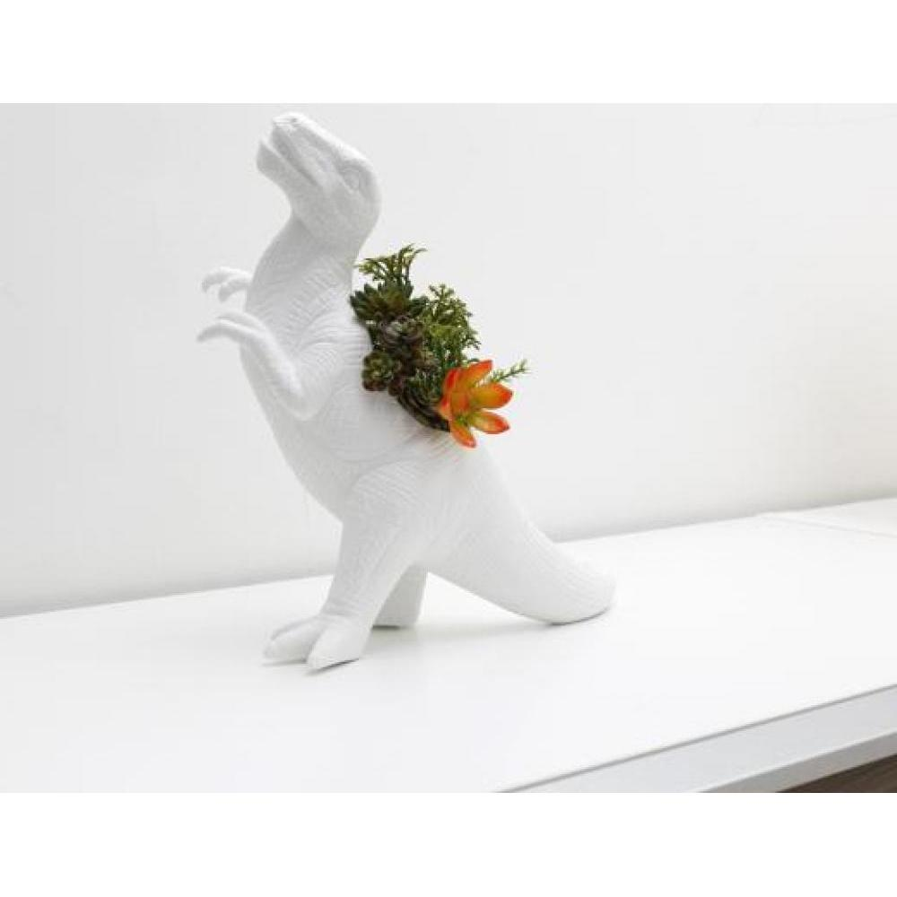 Plantasaurus Rex Ceramic Planter