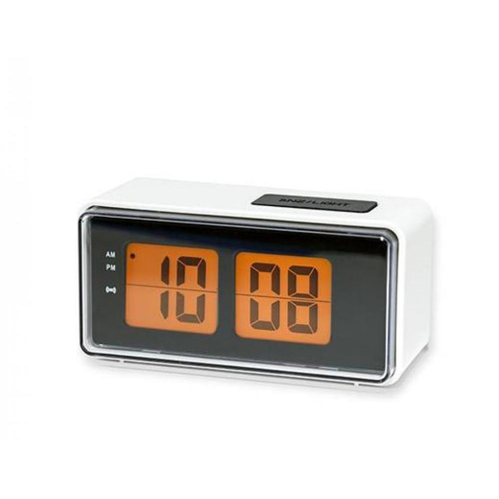 Digital Flip Clock - White