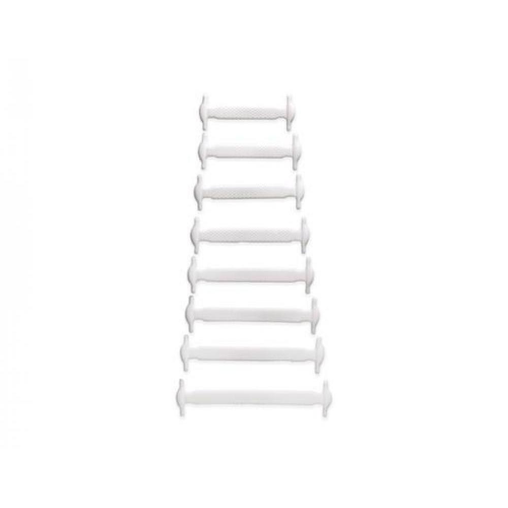 No-Tie Shoe Bands - White