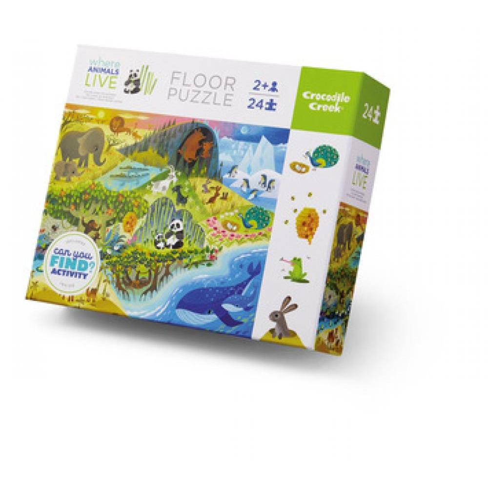 Puzzle 24 Piece Early Learning Where Animals Live