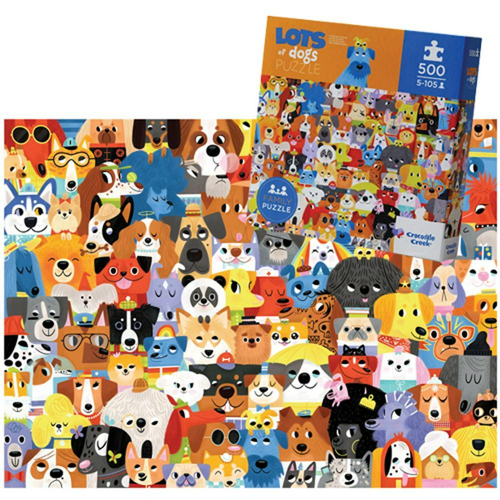 Puzzle 500 Piece Family Puzzle Lots of Dogs