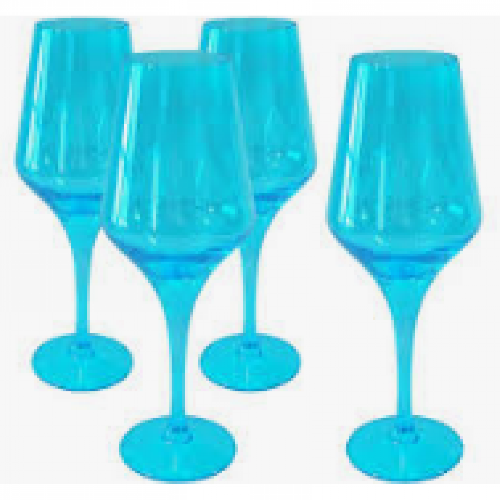 Luster goblet turquoise 16oz