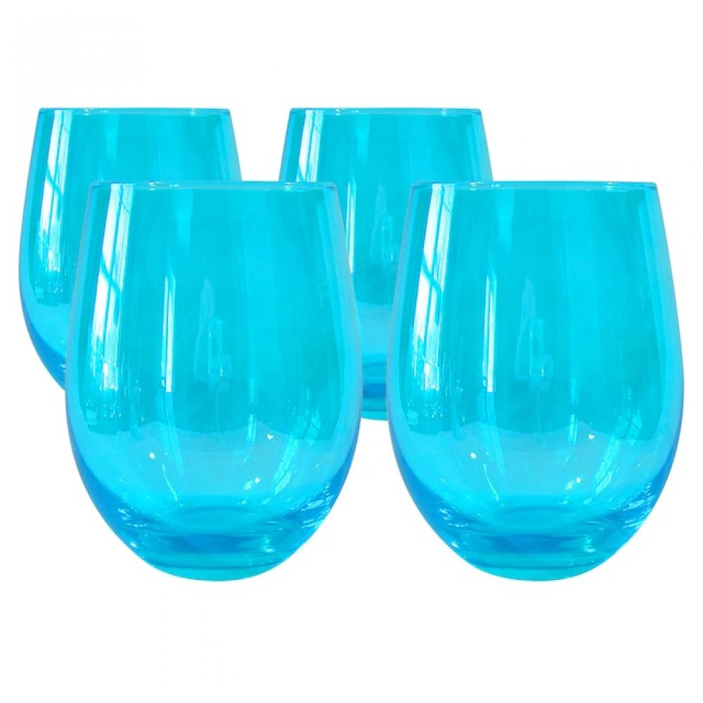 Luster stemless turquoise 16oz