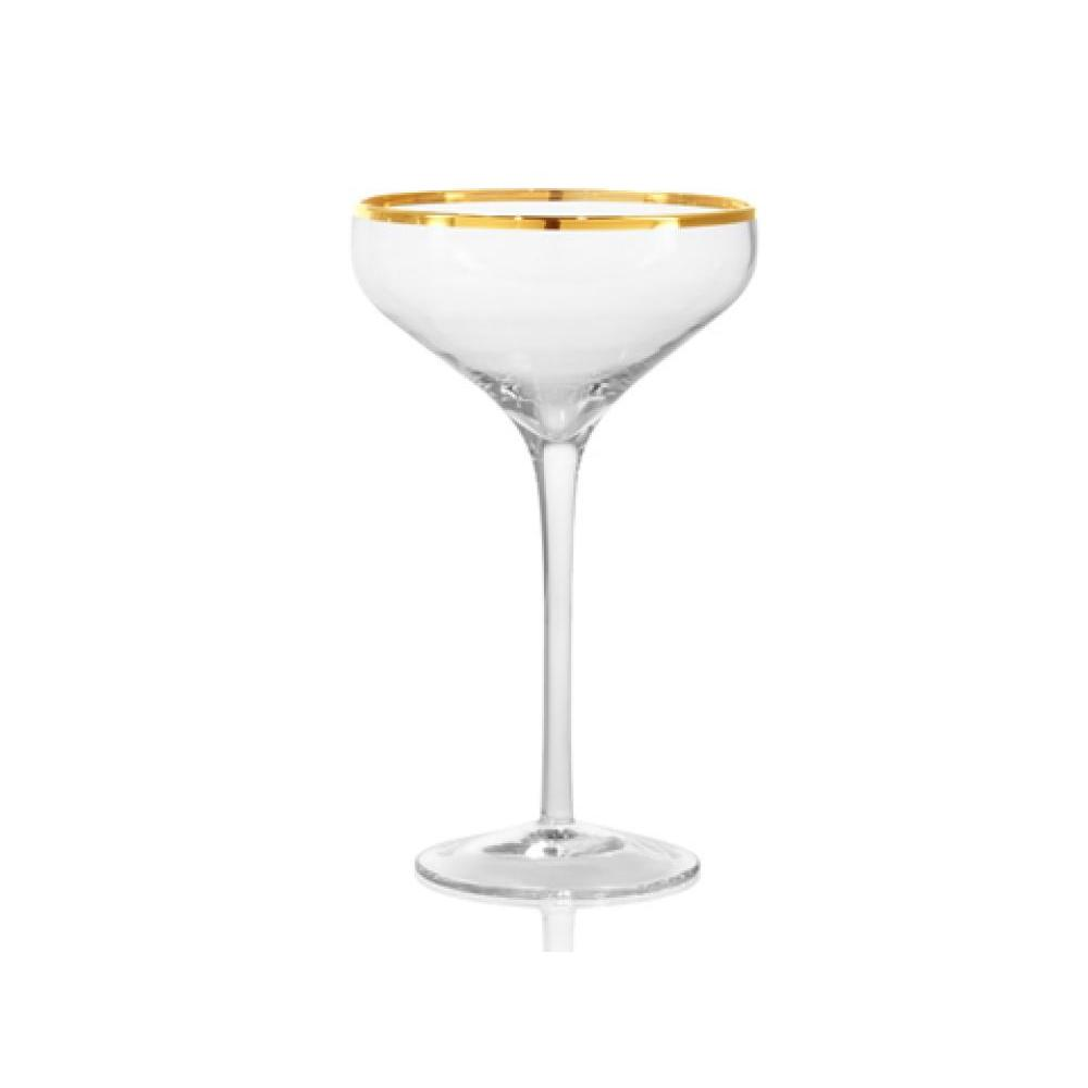 Gold band cocktail coupe 10oz