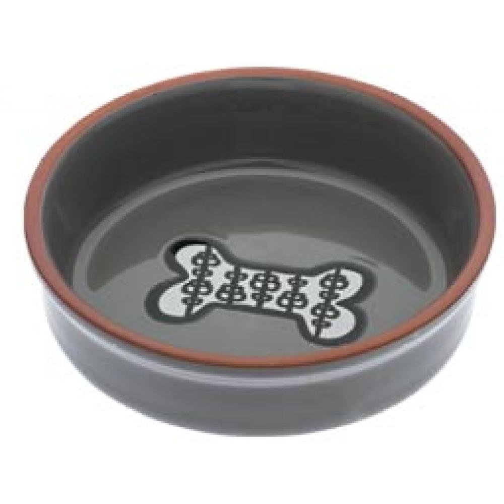 Food Bowl - Henna Bone nin Grey Small