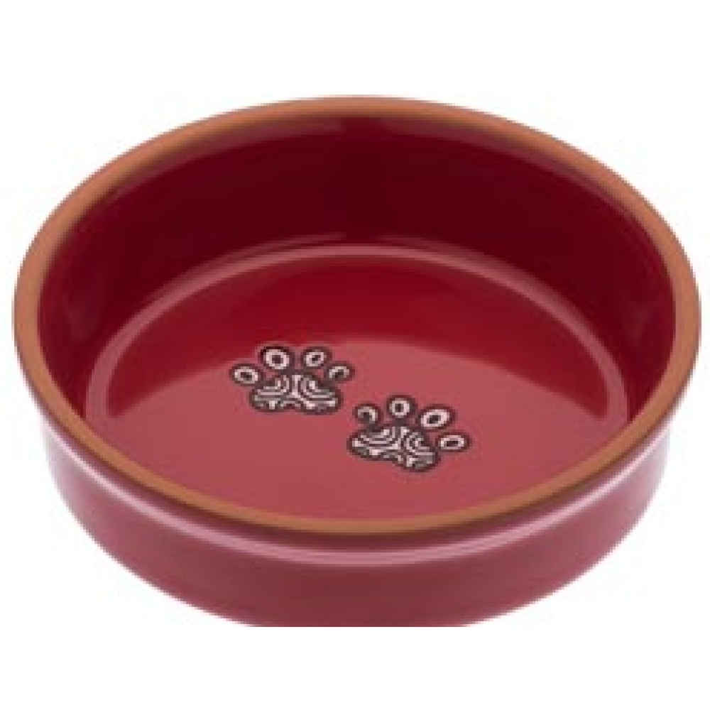 Food Bowl - Henna Paw in Red Small
