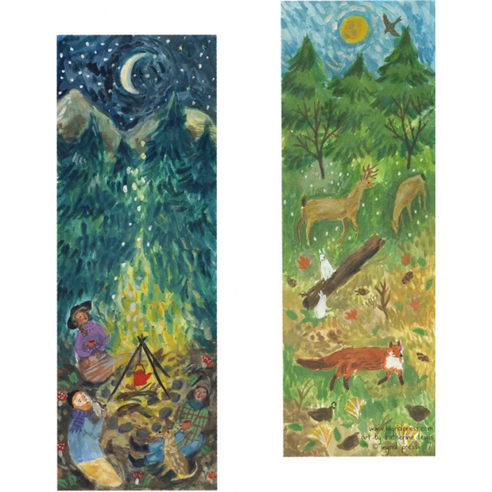 Bookmark - Forest Campfire