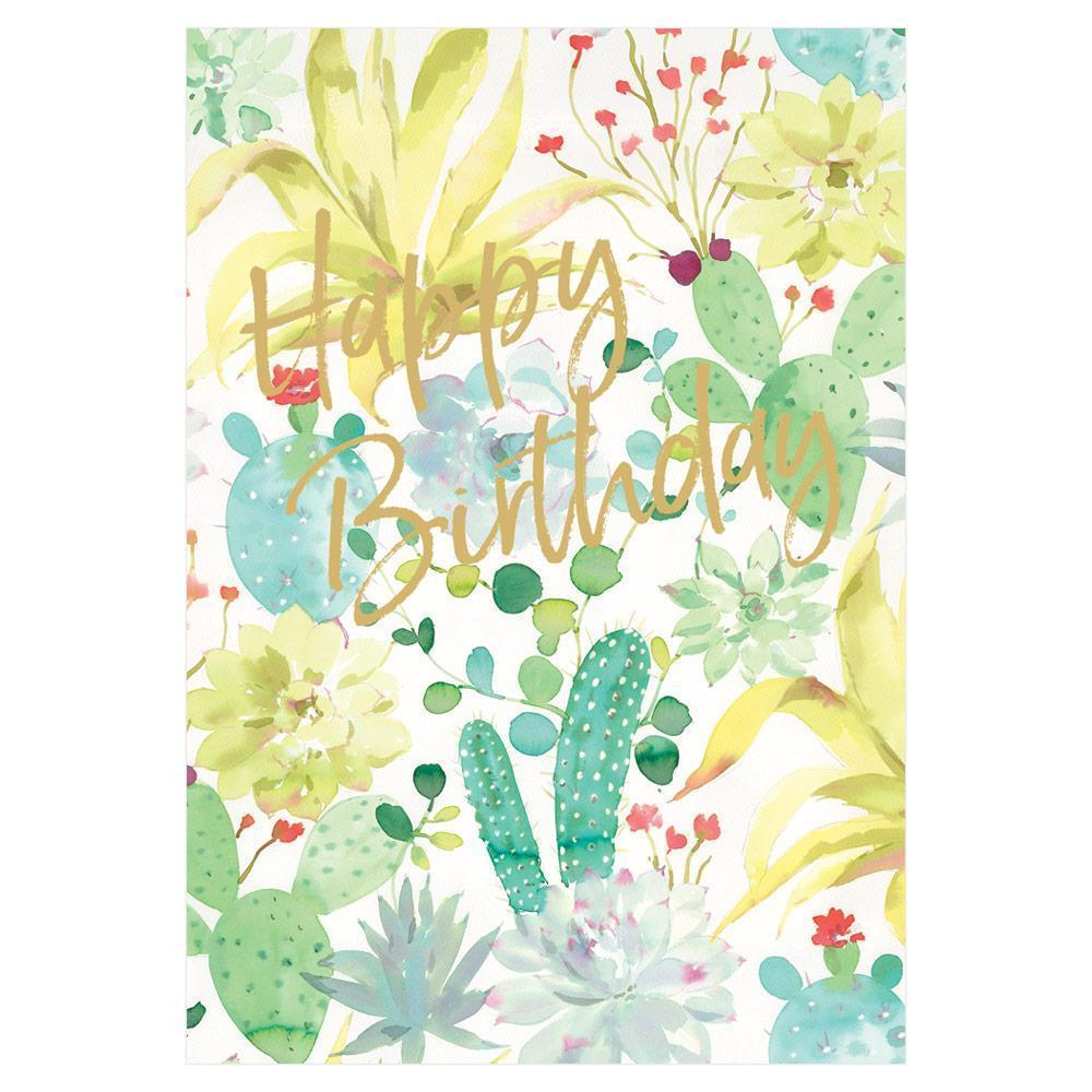 Birthday - Succulents Foil