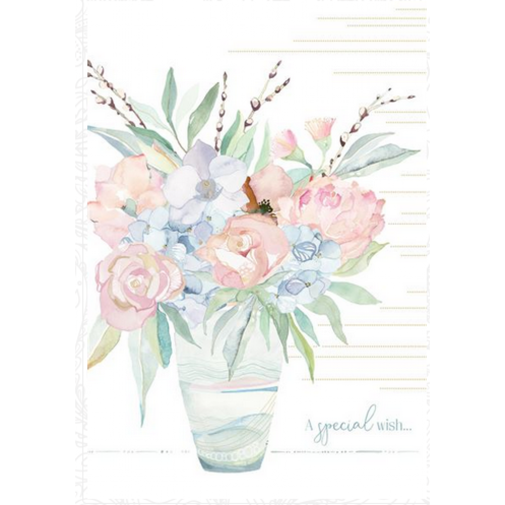 Birthday - Watercolor Vase 1