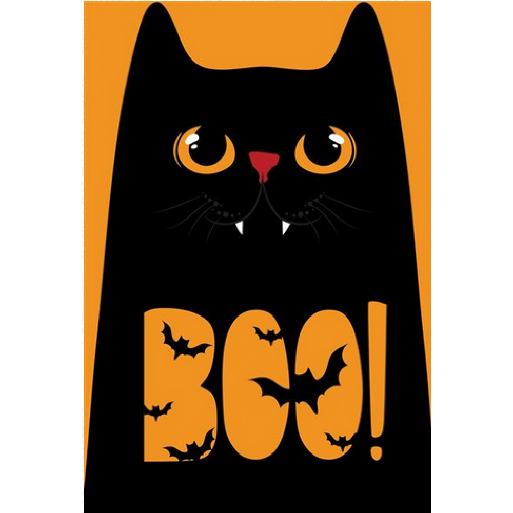 Halloween - Black Cat Boo