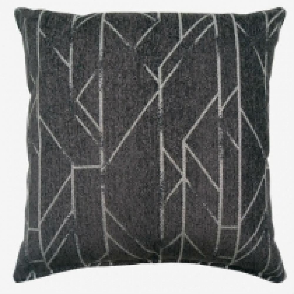 Taya Charcoal Lumbar Pillow 12.5in x 19in