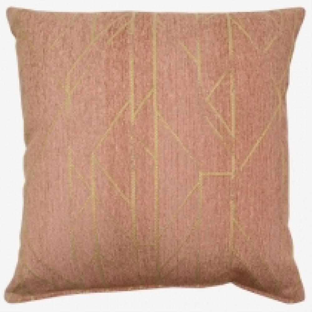 Taya Rosedust Pillow 17in x 17in