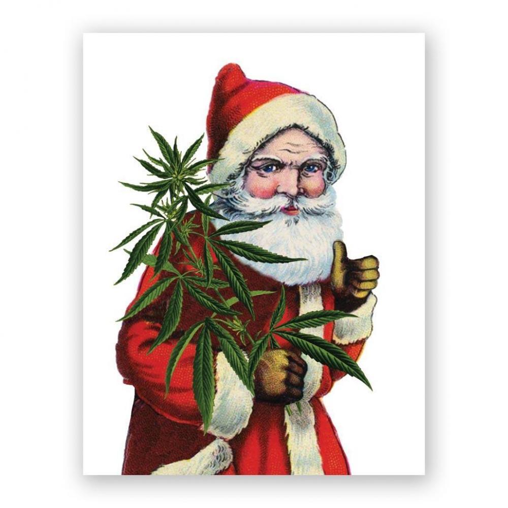 Christmas Card - Cannabis Santa