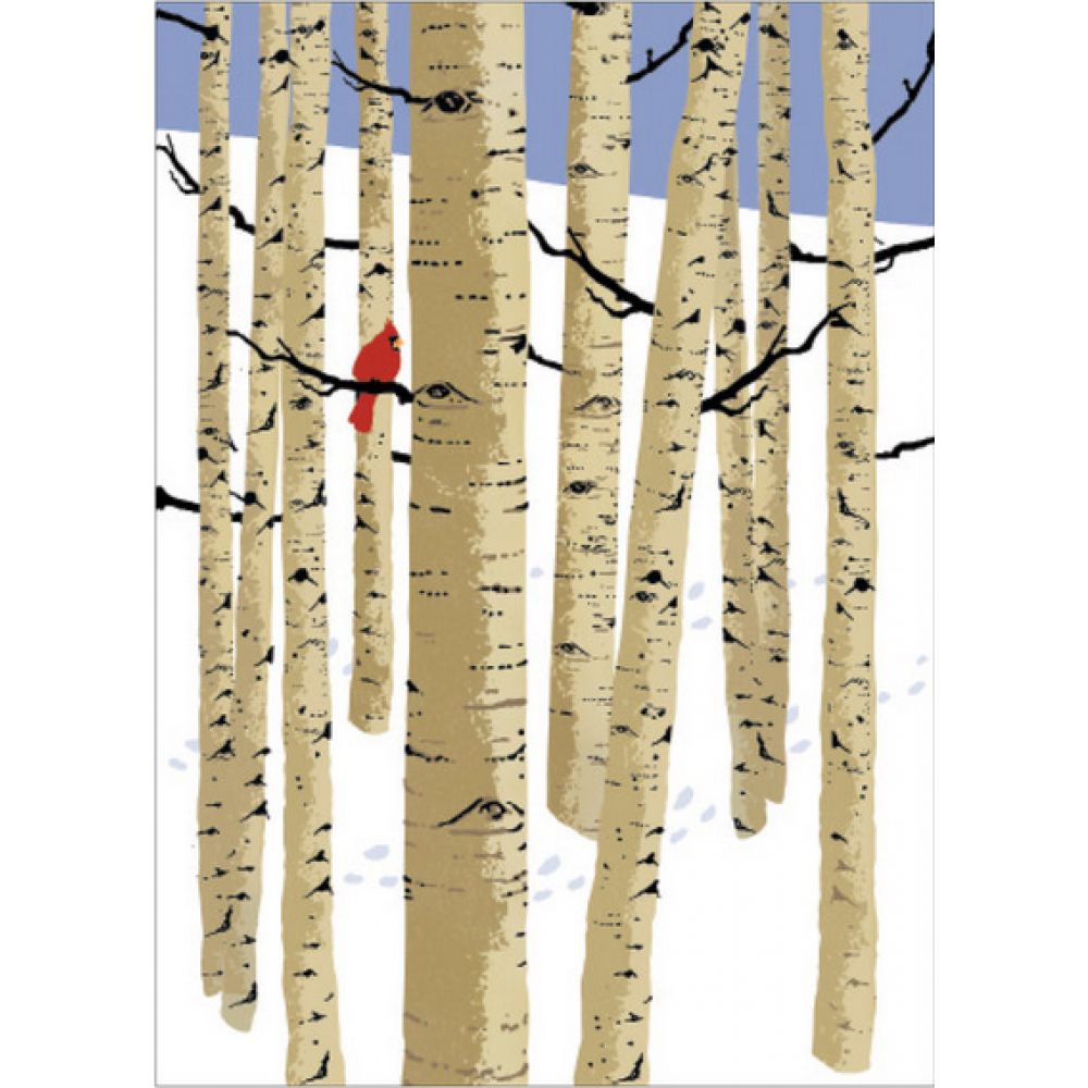 Boxed Card - Christmas - Birch Trees
