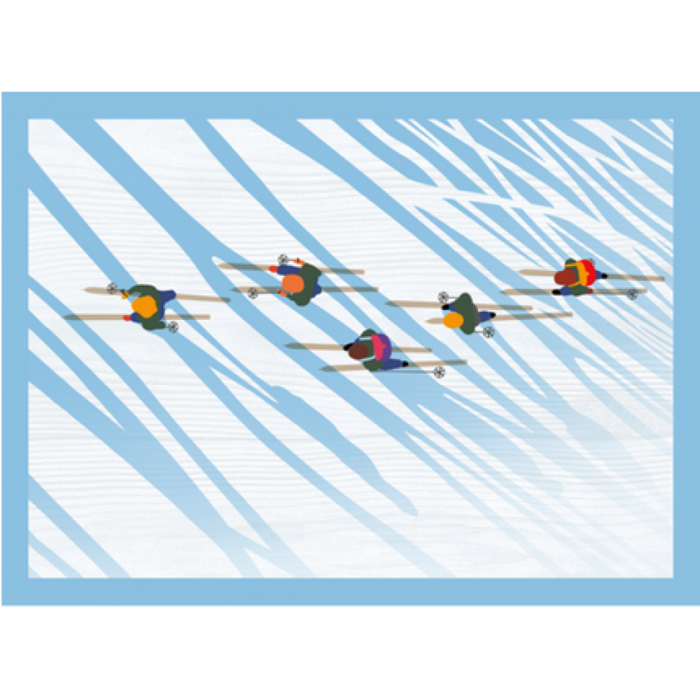 Boxed Card - Christmas - Skiers