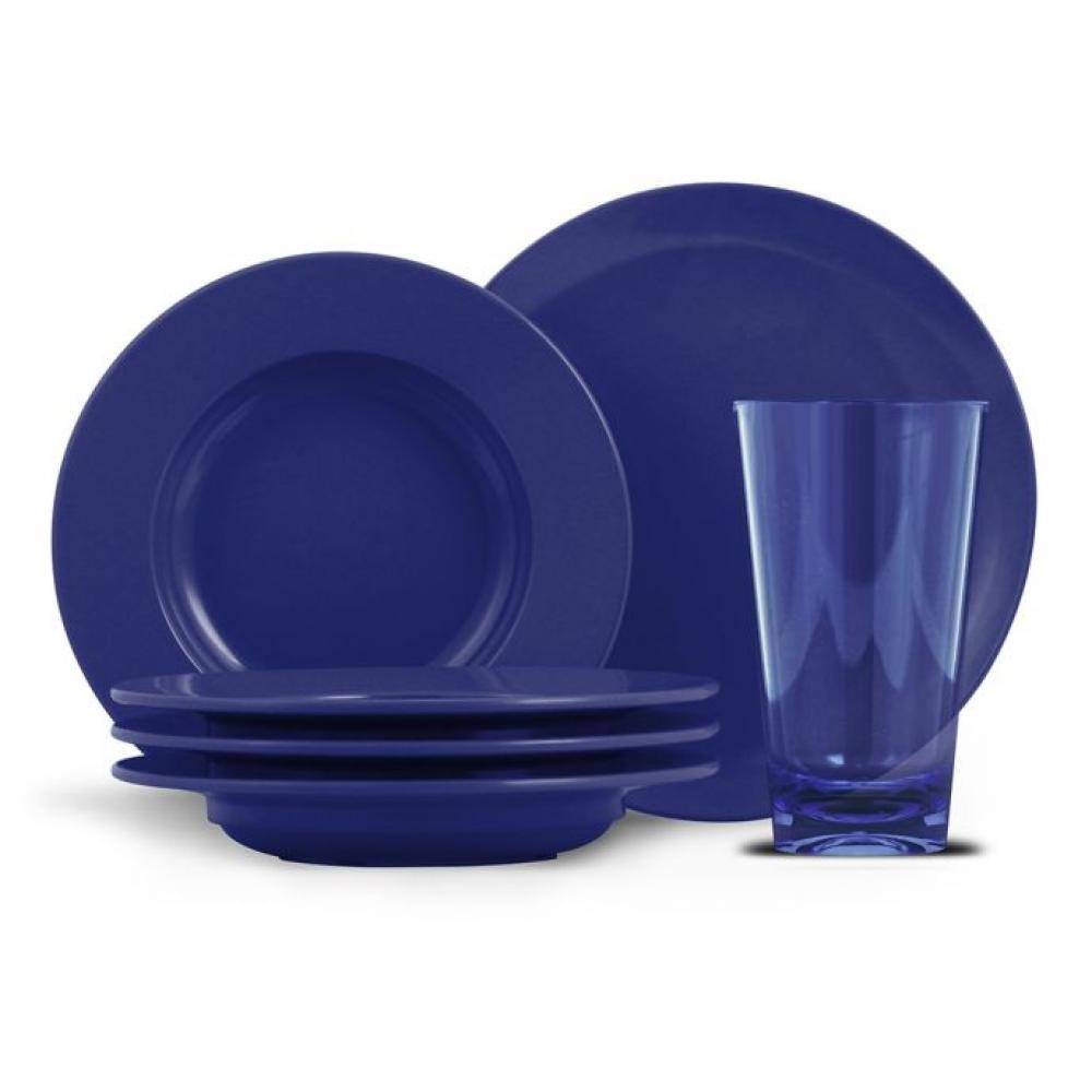 Chefs Collection Cadence - 14 pc Bistro Set Cobalt Blue