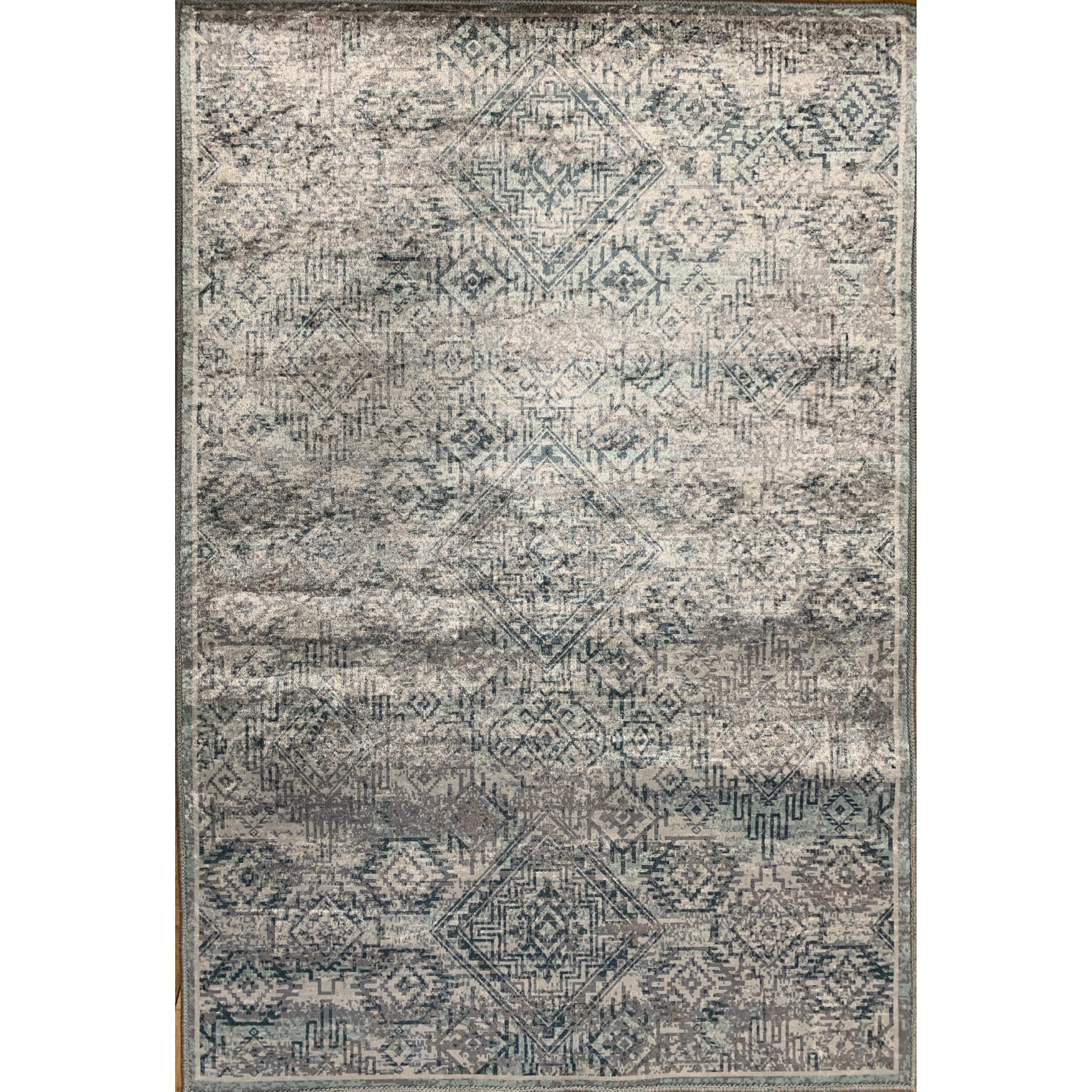 Emerald Collection Grey Rug 5ft x 7ft
