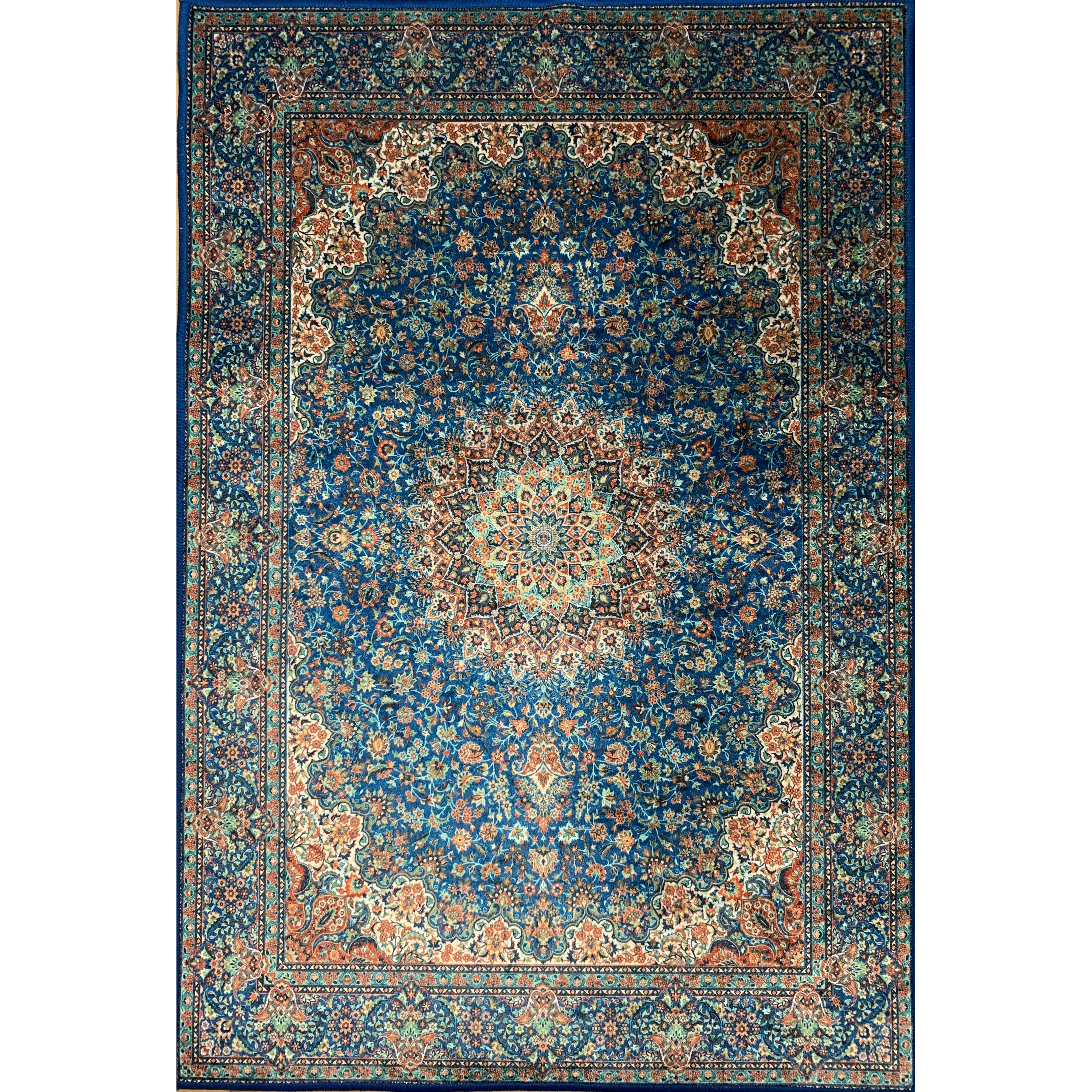 Emerald Collection Green / Blue Rug 5ft x 7ft