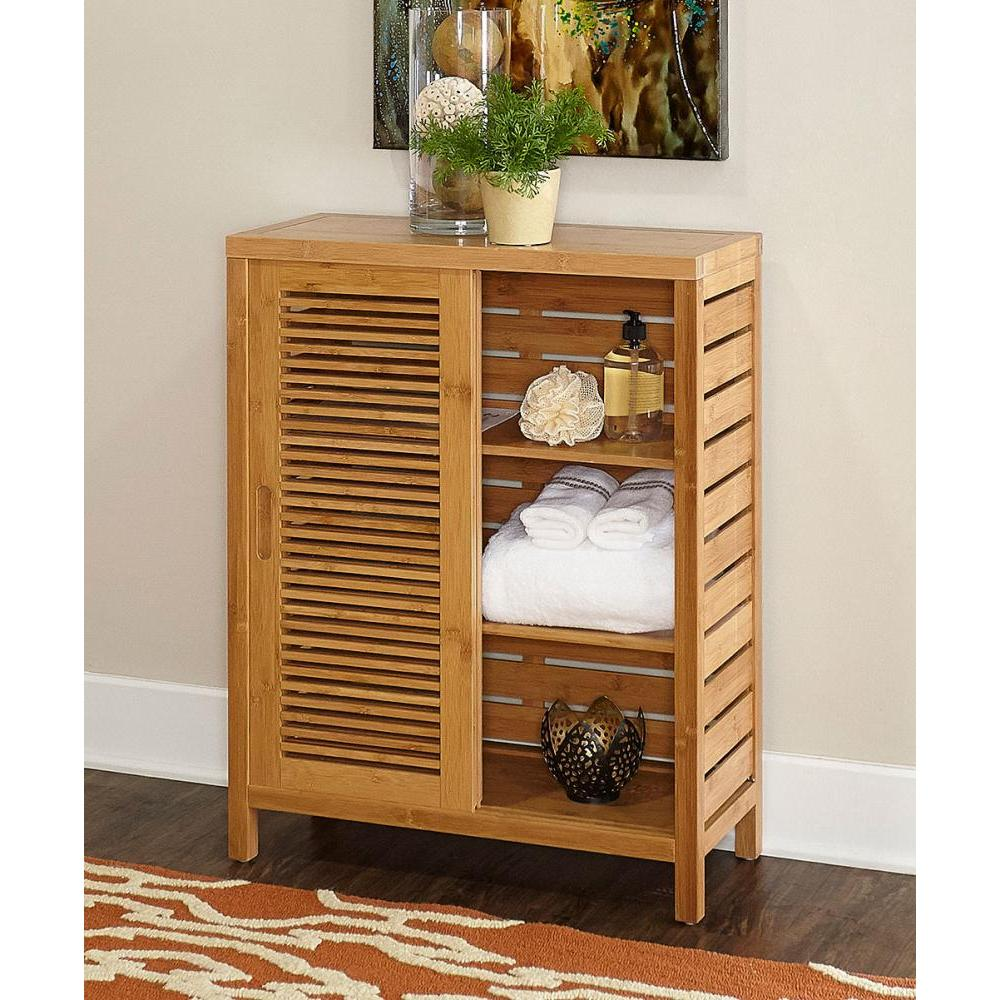 Bracken Bamboo Floor Cabinet 2 Door