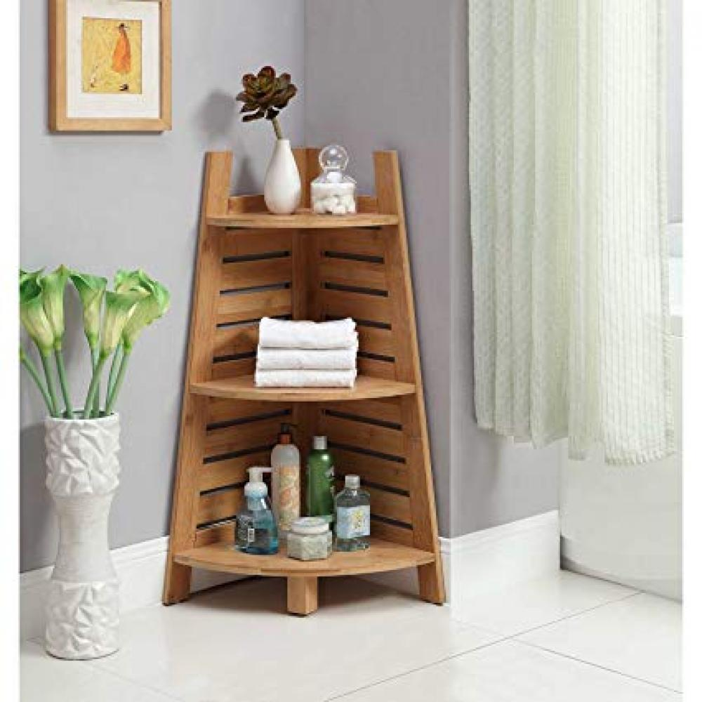 Bracken Bamboo Corner Shelves