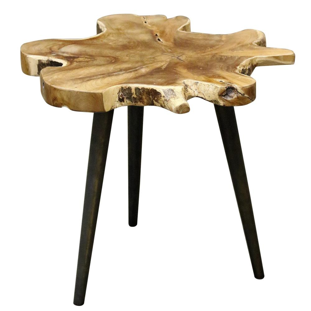 Lilly Side Table Teak Wood 26x25x18