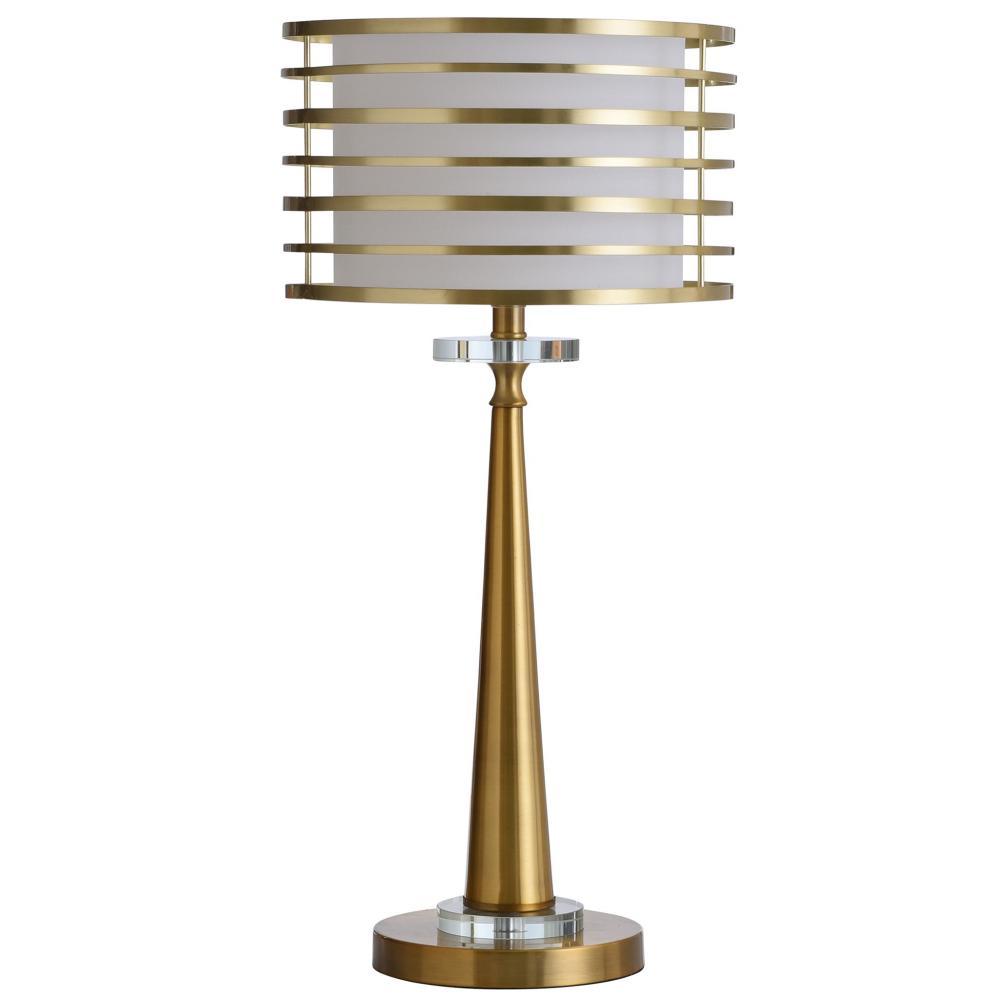 Elland Metal Ring & Crystal Base Table Lamp