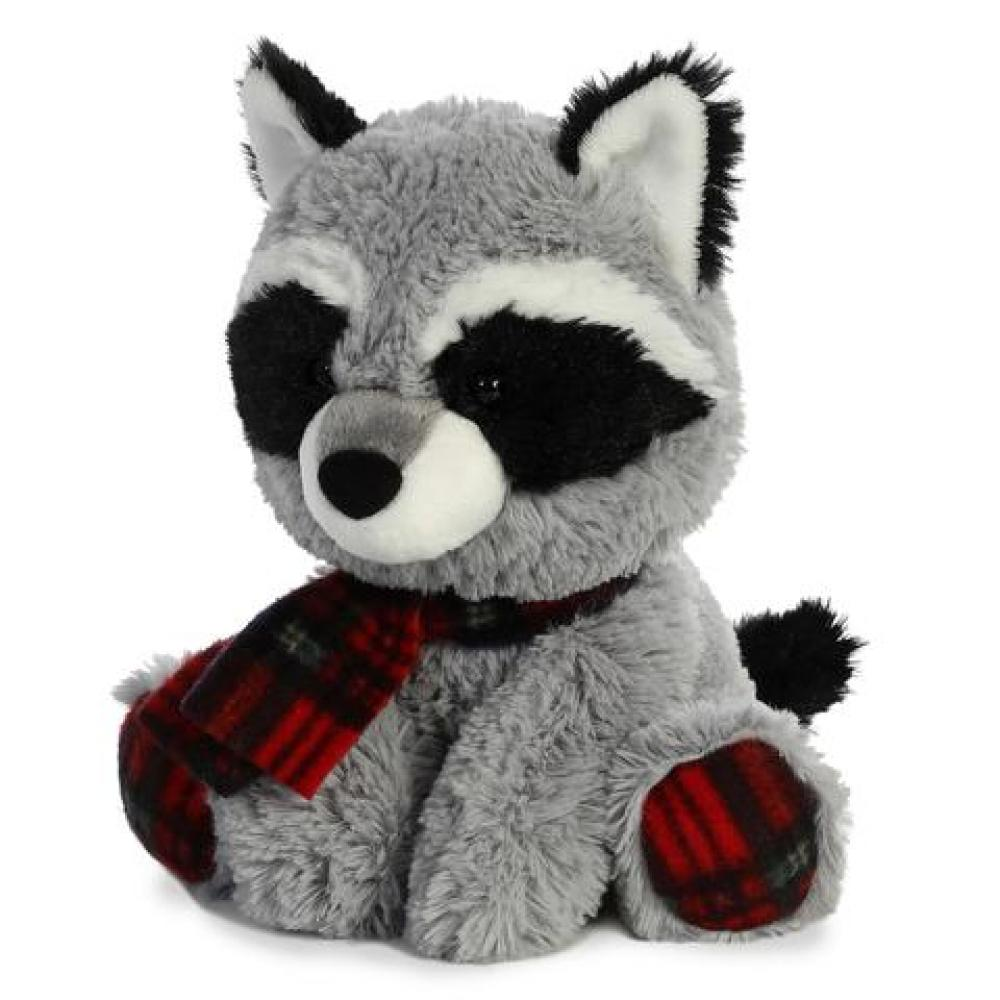 Holiday Pudder D. Plaid Raccoon 8in ( Seasonal Item Call For Availability )