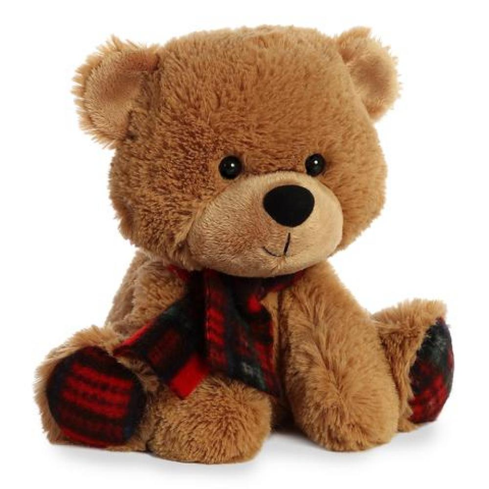 Holiday Bear Plaid Pete D. 8in ( Seasonal Item Call For Availability )