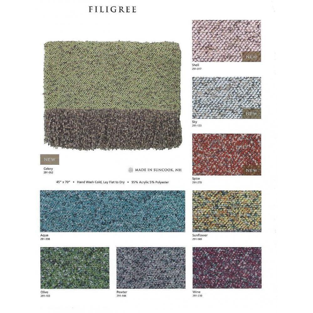 Throw Blanket Filigree Olive 45x70