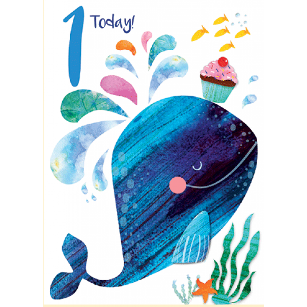 Birthday  - Age - 1s Today Whale