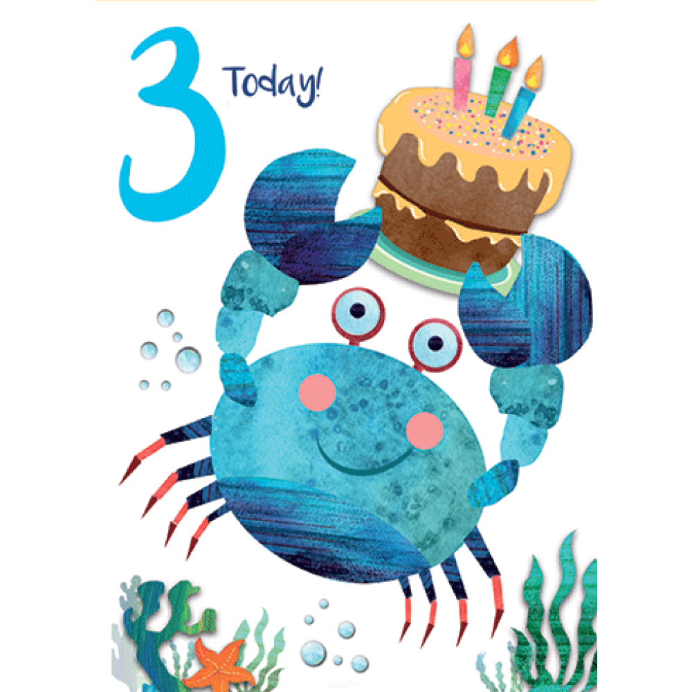 Birthday  - Age - 3rd Today Crabcake