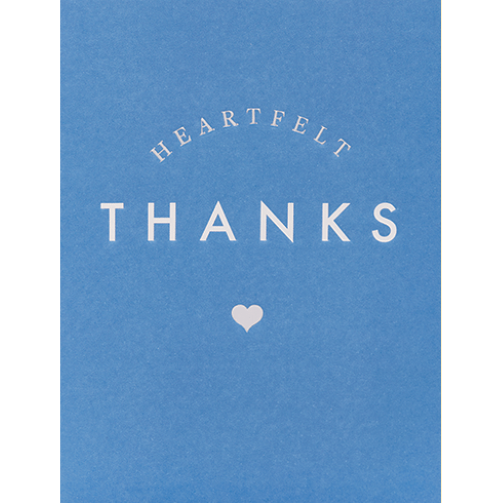 Thank You - Heartfelt Thanks