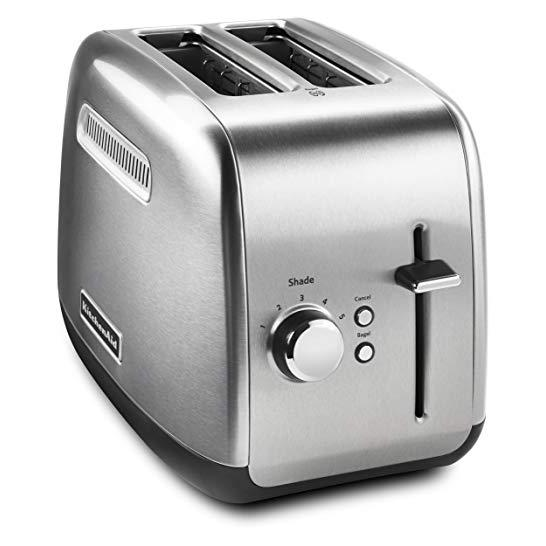 2-SLICE METAL TOASTER WITH MANUAL LIFT Brushed Stainless Steel