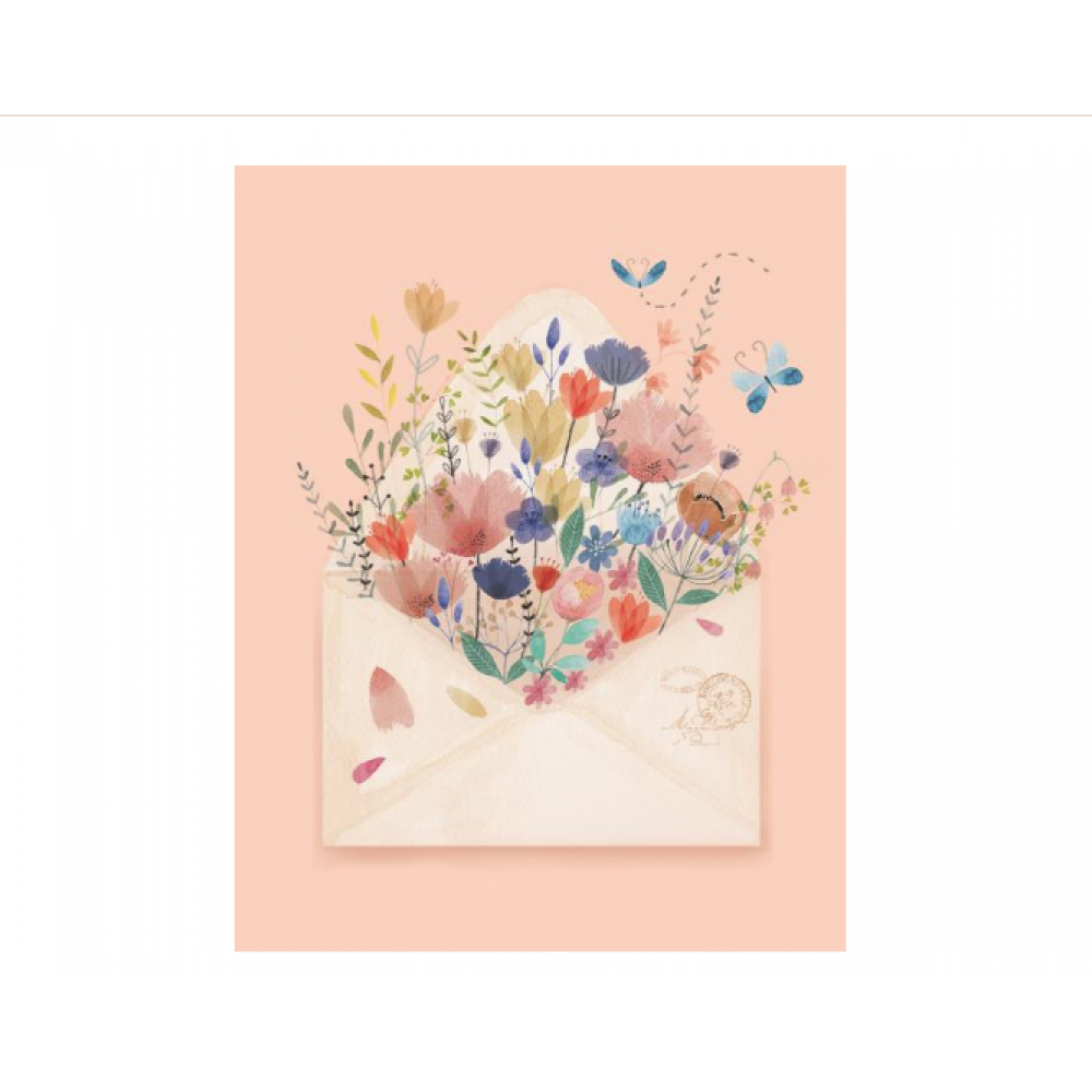 Boxed Card - Blooming Envelope