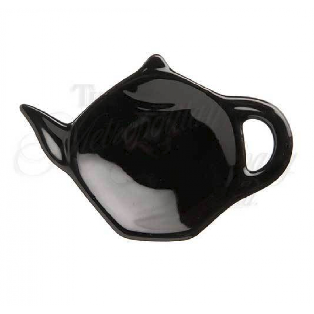 Black Ceramic Tea Bag Holder