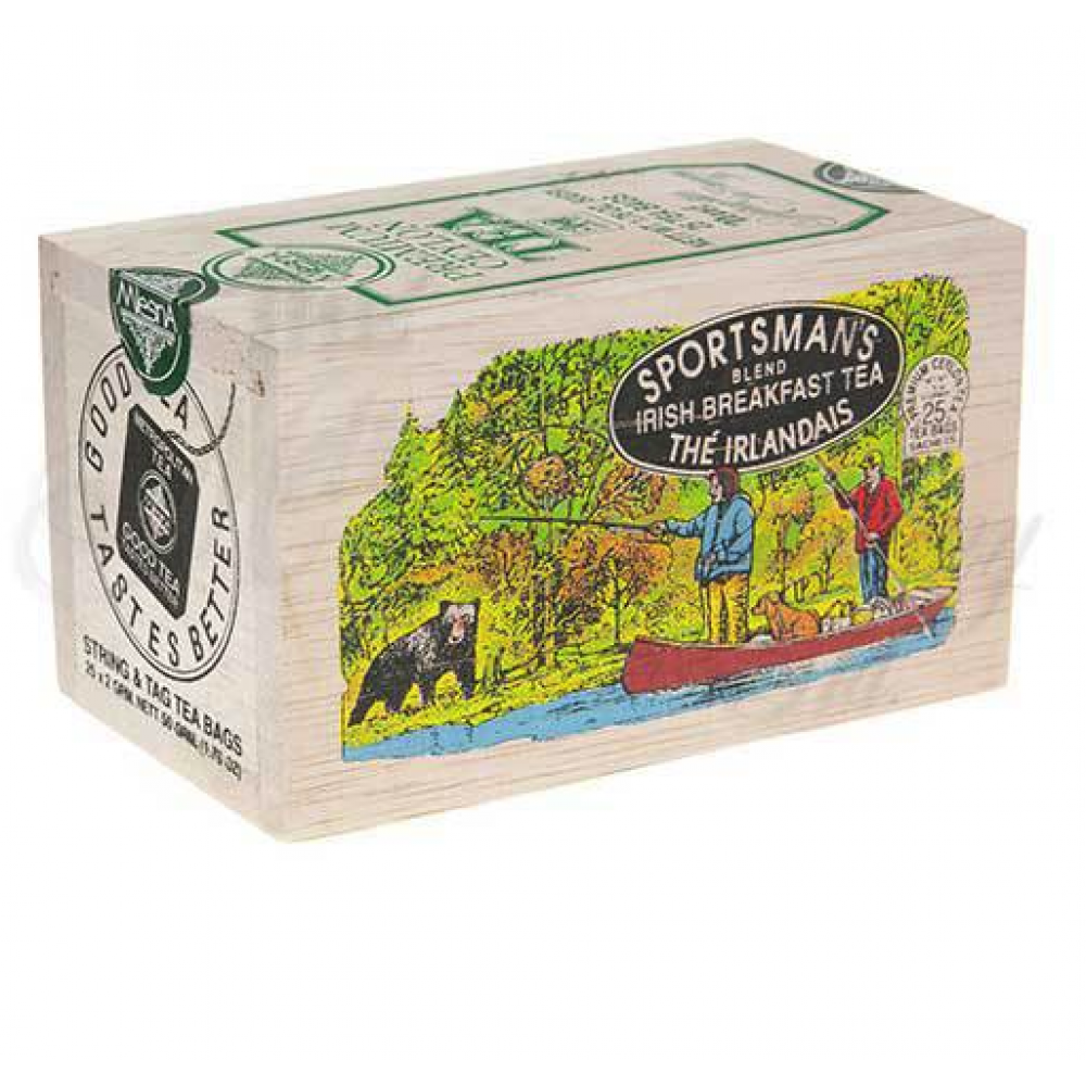 25 Tea Bags Wooden Box Sportsman Blend
